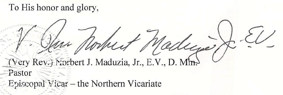 Rev. Norbert J. Maduzia, Jr.